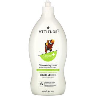 ATTITUDE, Dishwashing Liquid, Manzana Verde y Albahaca, 23.7 fl oz (700 ml)