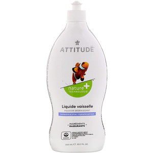 Аттитуде, Dishwashing Liquid, Coriander & Olive, 23.7 fl oz (700 ml) отзывы покупателей