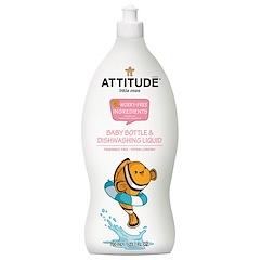 ATTITUDE, Eco-Baby, Жидкость для мытья посуды, 23,7 жидких унций (700 мл)