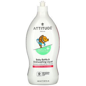 Аттитуде, Baby Bottle & Dishwashing Liquid, Fragrance-Free, 23.7 fl oz (700 ml) отзывы покупателей