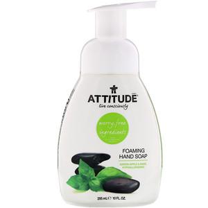 Аттитуде, Foaming Hand Soap, Green Apple & Basil, 10 fl oz (295 ml) отзывы покупателей
