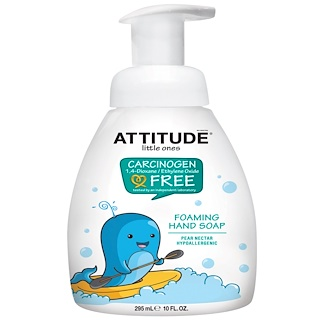 ATTITUDE, リトルワンズ、 フォーミングハンドソープ、 梨ネクター、 10液量オンス (295 ml)