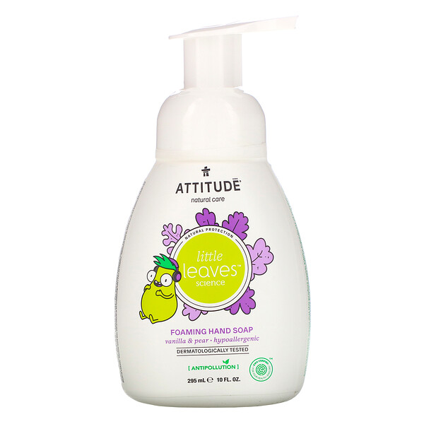 Little Leaves Science, Foaming Hand Soap, Vanilla & Pear, 10 fl oz (295 ml)