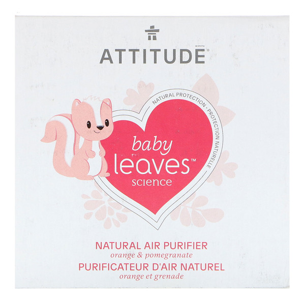 ATTITUDE, Baby Leaves Science, Natural Air Purifier, Orange & Pomegranate, 8 oz (227 g) (Discontinued Item)