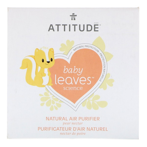 ATTITUDE, Baby Leaves Science, Natural Air Purifier, Pear Nectar, 8 oz (227 g) (Discontinued Item)
