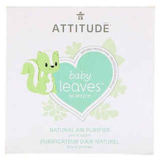 ATTITUDE, Baby Leaves Science, Natural Air Purifier, Sweet Apple, 8 oz (227 g)