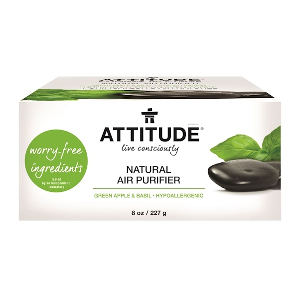 ATTITUDE, Natural Air Purifier, Green Apple & Basil, 8 oz (227 g) (Discontinued Item)