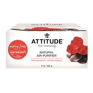 ATTITUDE, Natural Air Purifier, Pink Grapefruit, 8 oz (227 g)