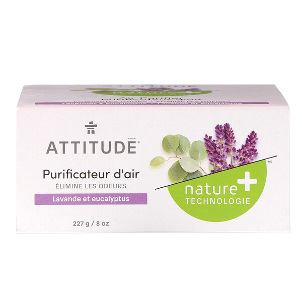 ATTITUDE, Natural Air Purifier, Lavender & Eucalyptus, 8 oz (227 g)