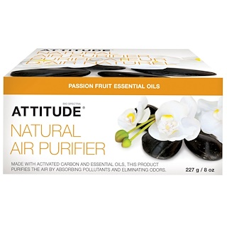 ATTITUDE, 天然空気清浄剤、パッションフルーツ、8 オンス (227 g)