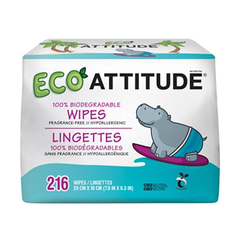 Eco Wipes, Fragrance-Free, 216 Wipes