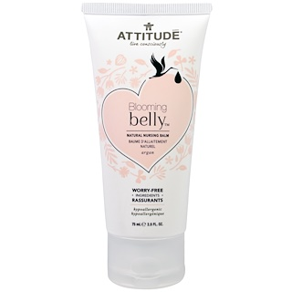 ATTITUDE, Blooming Belly, Natural Nursing Balm, Argan, 2.5 fl oz. (75 ml)