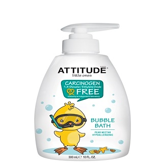 ATTITUDE, Little Ones, Bubble Bath, Pear Nectar, 10 fl oz (300 ml)
