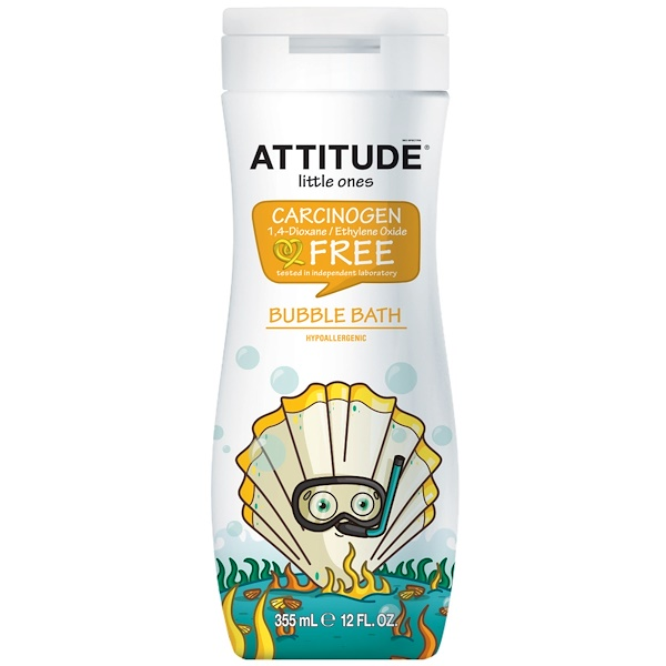 ATTITUDE, Little Ones, Eco-Kids, Bubble Bath, 12 fl oz (355 ml) (Discontinued Item)