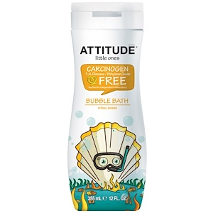 Аттитуде, Little Ones, Eco-Kids, Bubble Bath, 12 fl oz (355 ml) отзывы покупателей
