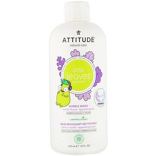 ATTITUDE, Little Leaves Science, Bubble Wash, Vanilla & Pear, 16 fl oz (473 ml)