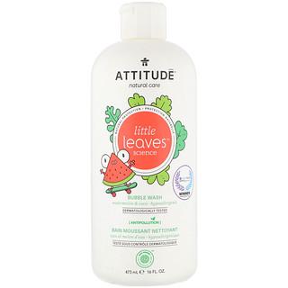 ATTITUDE, Little Leaves Science, Bubble Wash, Watermelon & Coco, 16 fl oz (473 ml)