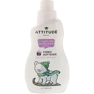 ATTITUDE, Little Ones, Fabric Softener, Sweet Lullaby, 40 Loads, 33.8 fl oz (1 L)