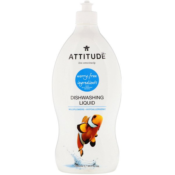 ATTITUDE, Dishwashing Liquid, Wildflowers, 23.7 fl oz (700 ml) (Discontinued Item)