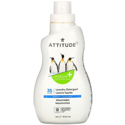 ATTITUDE Laundry Detergent, Wildflowers , 35 Loads, 33.5 fl oz (1.05 l)