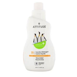 ATTITUDE, Laundry Detergent, 35 Loads, Citrus Zest, 35.5 fl oz (1.05 l)