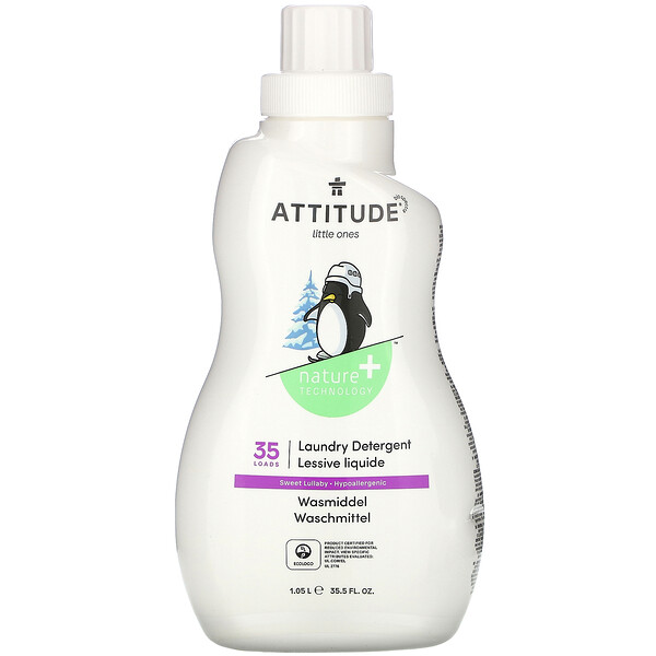 ATTITUDE, Little Ones, Laundry Detergent, Sweet Lullaby, 35.5 fl oz (1.05 l)