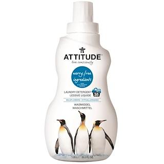 ATTITUDE, Laundry Detergent, Wildflowers, 35.5 fl oz (1.05 l)