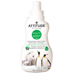 Аттитуде, Laundry Detergent & Fabric Softener, Mountain Essential, 35.5 fl oz (1.05 l) отзывы