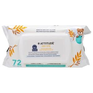Аттитуде, Sensitive Skin Care, Baby, Natural Baby Wipes, Fragrance Free, 72 Wipes отзывы