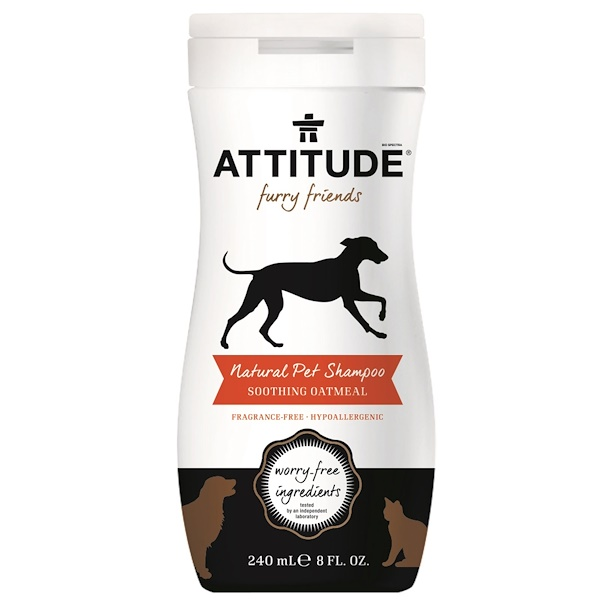 ATTITUDE, Furry Friends, Natural Pet Conditioner, Soothing Oatmeal, 8 fl oz (240 ml) (Discontinued Item)