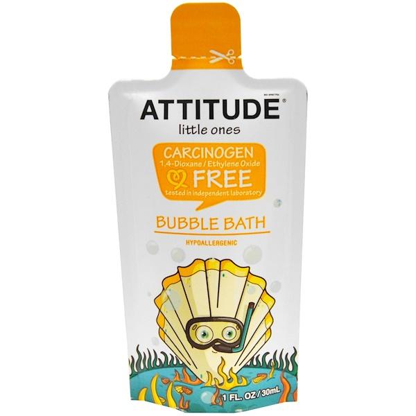ATTITUDE, リトルワンズ, バブルバス, 1 液量オンス (30 ml) (Discontinued Item)