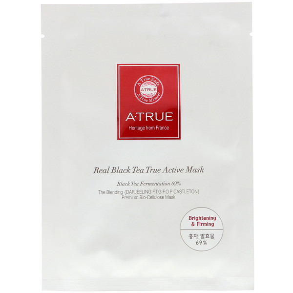 ATrue, 本物の紅茶、真に活性のあるマスク、マスク1枚、0.88 oz (25 g)