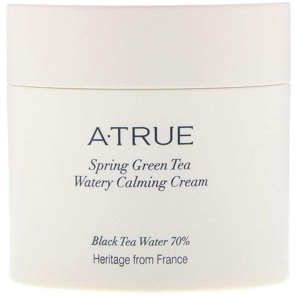 ATrue, Spring Green Tea Watery Calming Cream, 2.82 oz (80 g) (Discontinued Item)
