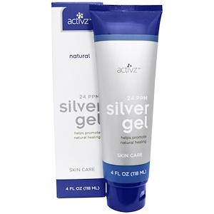 Activz, Заживляющий гель с серебром, 24 PPM, 4 жидких унций (118 мл)