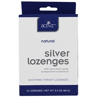 Activz, Natural Silver Lozenges, 21 Lozenges, 3.4 oz (95 g)