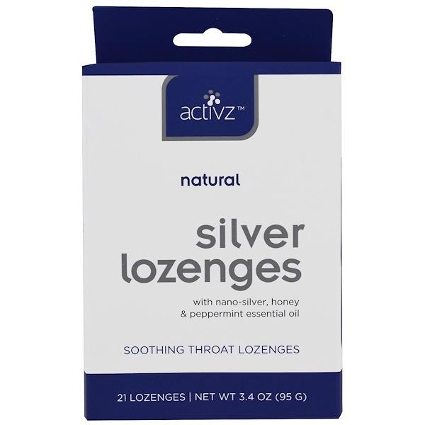 Activz, 天然銀含片,21片,3、4盎司(95克)