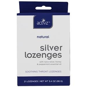 Activz, Пастилки с натуральным серебром, 21 пастилка, 3,4 унции (95 г)
