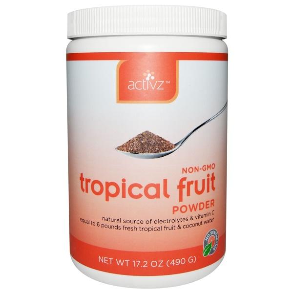 食品,百貨乾果:Activz, 熱帶水果粉,17、2盎司(490克)
