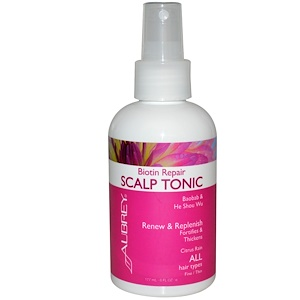 Обри Органикс, Biotin Repair, Scalp Tonic, Citrus Rain, 6 fl oz (177 ml) отзывы покупателей