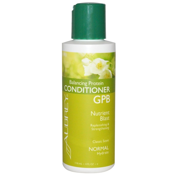 Aubrey Organics, GPB Balancing Protein Conditioner, Nutrient Blast, Normal, 4 fl oz (118 ml) (Discontinued Item)
