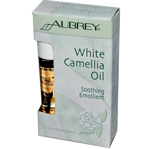 Aubrey Organics, White Camellia Oil, Soothing Emollient, 0.36 fl oz (11 ml) (Discontinued Item)