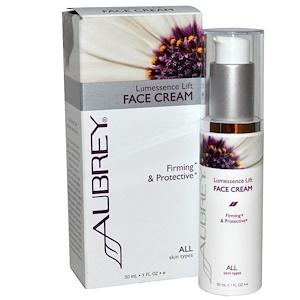 Aubrey Organics, Подтягивающий крем для лица Lumessence, для всех типов кожи, 1 жидкая унция (30 мл) инструкция, применение, состав, противопоказания
