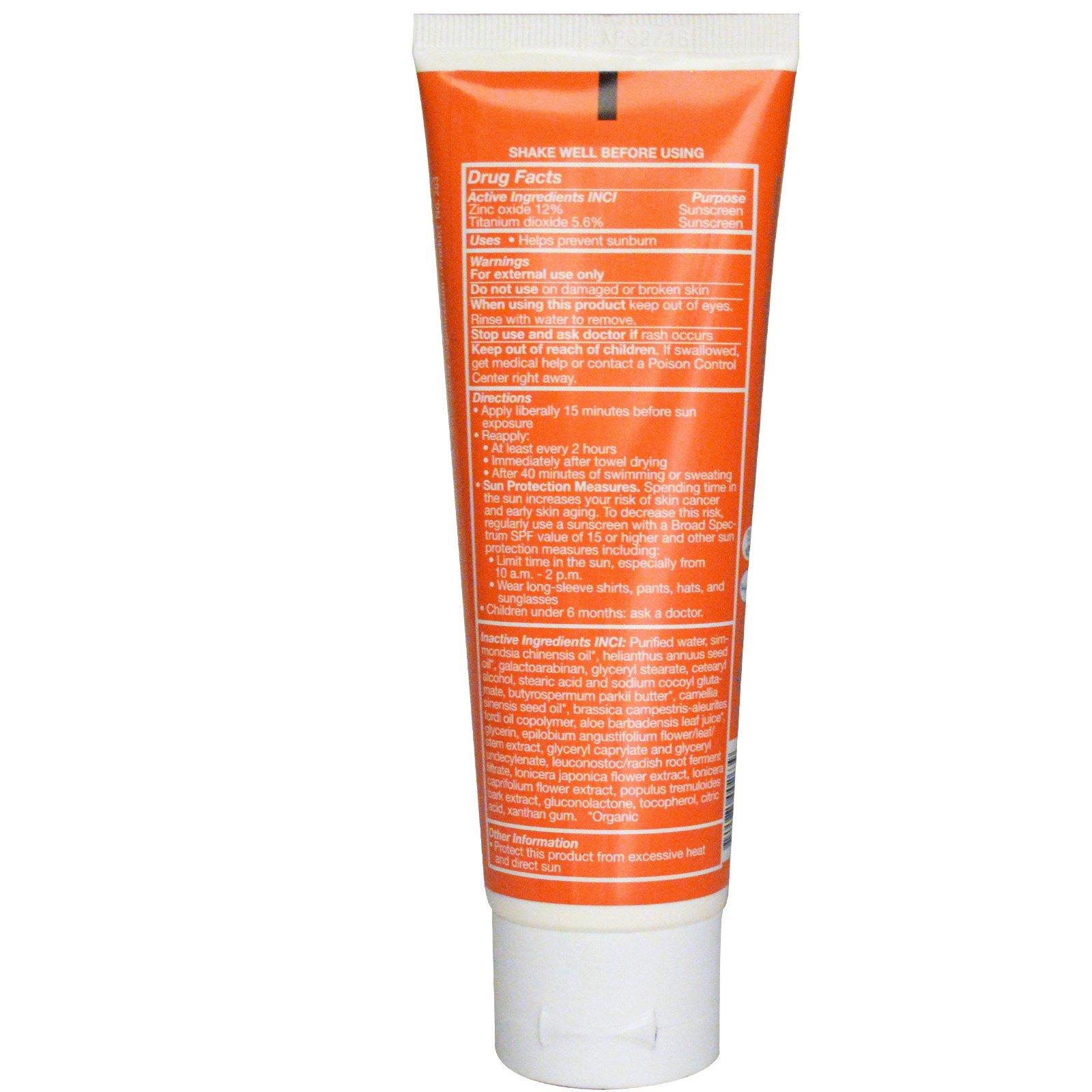 Aubrey Organics Natural Sun Sunscreen Unscented Spf