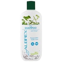 Aubrey Organics, 洗髮水,染色護理,所有/敏感髮質,奇亞籽,11盎司(325毫升)