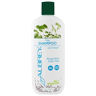 Aubrey Organics, シャンプー、カラーケア、全ての髪質/敏感肌、チア、11 fl oz (325 ml)