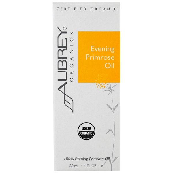 Aubrey Organics, Organic, Evening Primrose Oil, 1 fl oz (30 ml) (Discontinued Item)