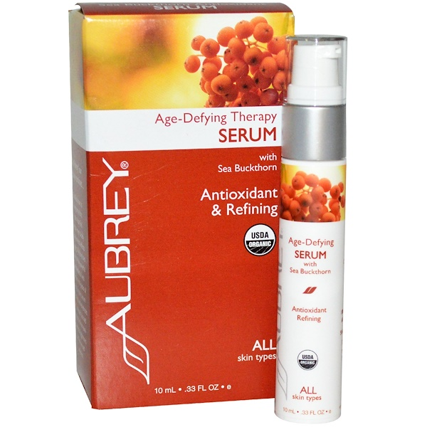 Aubrey Organics, Age Defying Therapy Serum, 0.33 fl oz (10 ml) (Discontinued Item)