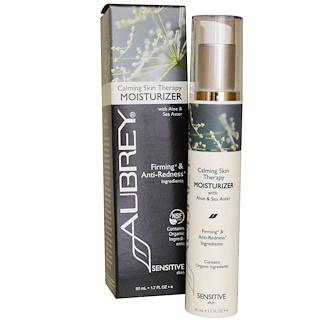 Aubrey Organics, カーミング スキン セラピー、モイスチャライザー、敏感肌、1.7 液量オンス (50 ml)