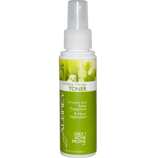 Aubrey Organics, Clarifying Therapy Toner, Oily/Acne Prone Skin, 3.4 fl oz (100 ml) (Discontinued Item)