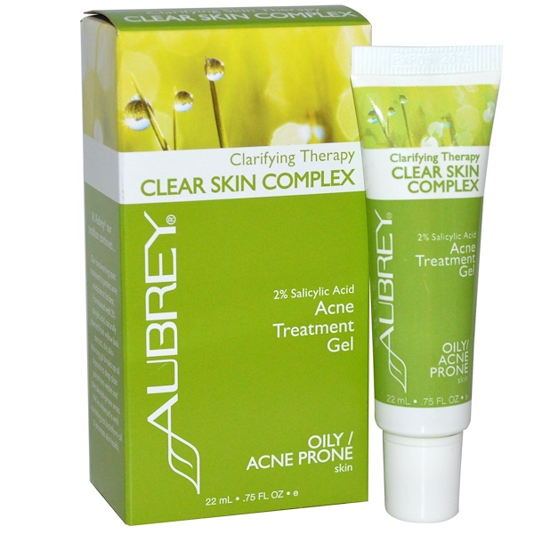 Aubrey Organics, Clarifying Therapy, Clear Skin Complex, Oily/Acne Prone, .75 fl oz (22 ml) (Discontinued Item)